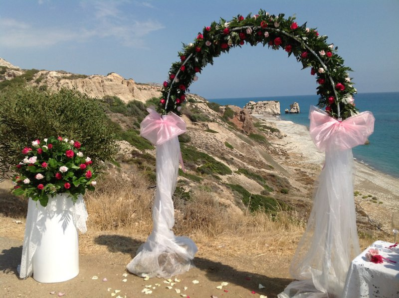 Civil Wedding Arch Annivia Gardens In Paphos Cyprus