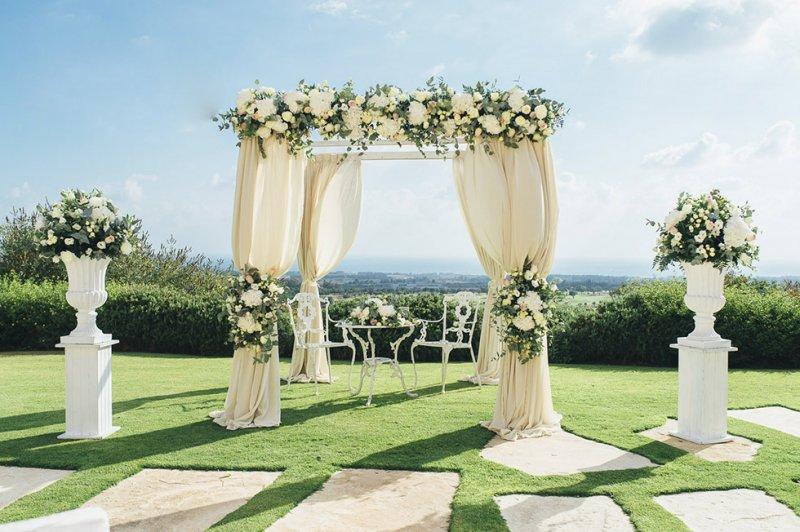 Civil Wedding - Arch - Annivia Gardens in Paphos Cyprus