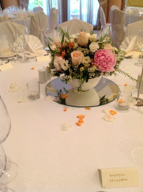 Civil Wedding Table Arrangements Annivia Gardens in Paphos Cyprus